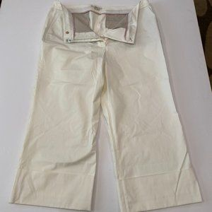 NWOT Boden ivory cropped wide leg pants 16